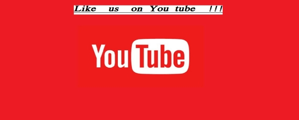 Like & follow us on You Tube